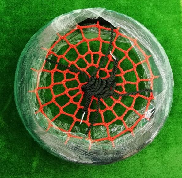 качели гнездо 100 сантиметров черный обод красная сетка