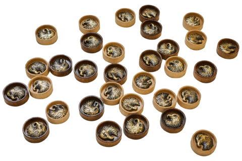 "Набор фишек для нард ""Орел"" с бронзой 210"