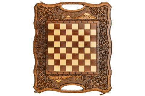Шахматы + Нарды резные Арарат 2 40