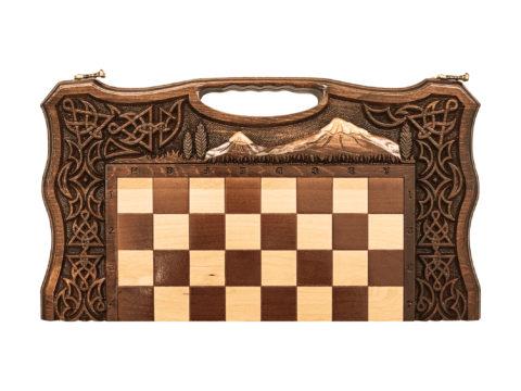 Шахматы + Нарды резные Арарат 2 50