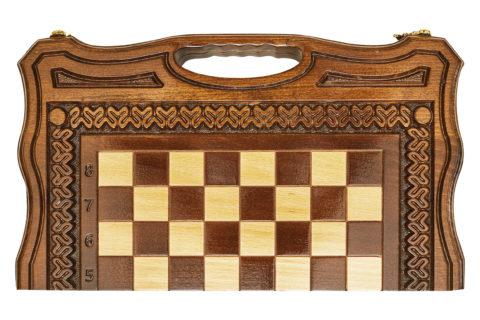 Шахматы + нарды резные Бриз-2 40