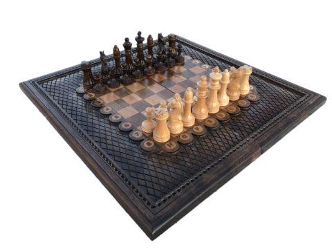 Шахматы + нарды резные 2 60