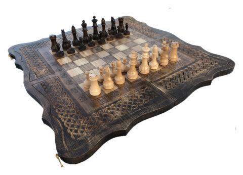 Шахматы + нарды резные 3 60