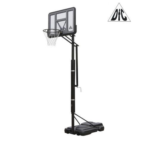 Баскетбольная мобильная стойка DFC STAND44PVC1 110x75cm ПВХ винт.регулировка-арт-STAND44PVC1-