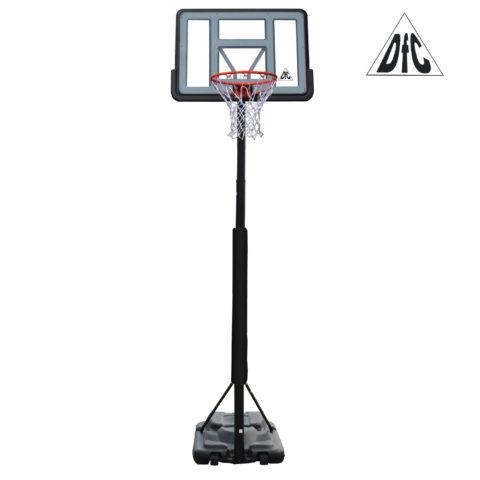 Баскетбольная мобильная стойка DFC STAND44PVC3 110x75cm ПВХ раздвиж.регулировка (STAND 4PVC3)-арт-STAND44PVC3-