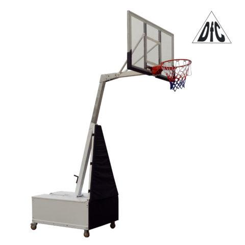 Баскетбольная мобильная стойка DFC STAND56SG 143x80CM поликарбонат (3кор)-арт-STAND56SG-