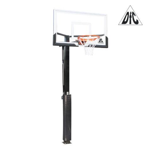 Баскетбольная стационарная стойка DFC ING54U 136х80см (четыре короба)-арт-ING54U-