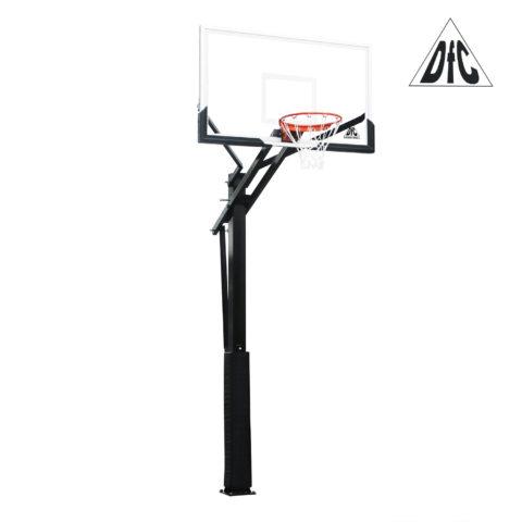 Баскетбольная стационарная стойка DFC ING60U 152x90см (четыре короба)-арт-ING60U-