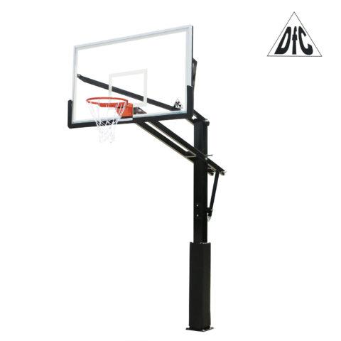 Баскетбольная стационарная стойка DFC ING72GU 180x105см стекло 10мм (Пять коробов).-арт-ING72GU-