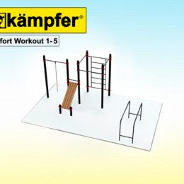 Воркаут площадка Kampfer Effort Workout 1-5 для детей и взрослых в квартиру