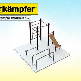 Воркаут площадка Kampfer Example Workout 1-2 для детей и взрослых в квартиру
