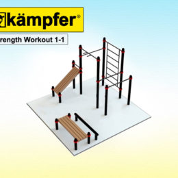 Воркаут площадка Kampfer Strength Workout 1-1 для детей и взрослых в квартиру