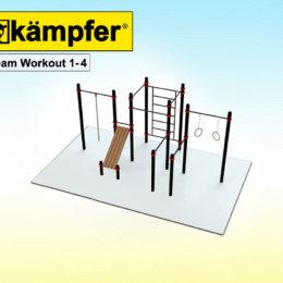 Воркаут площадка Kampfer Team Workout 1-4 для детей и взрослых в квартиру
