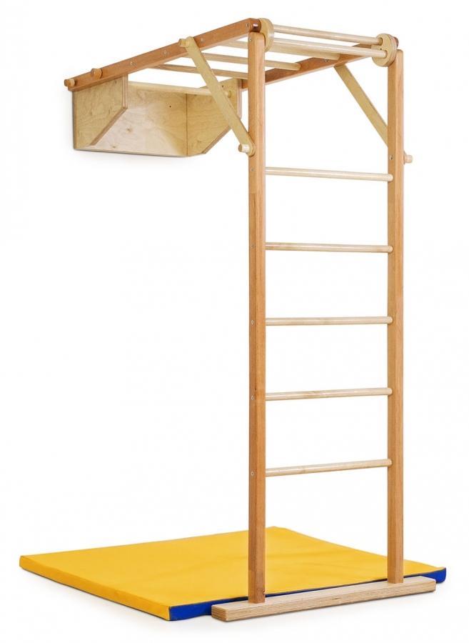 Деревянный игровой комплекс KIDWOOD Жираф для детей и взрослых в квартиру
