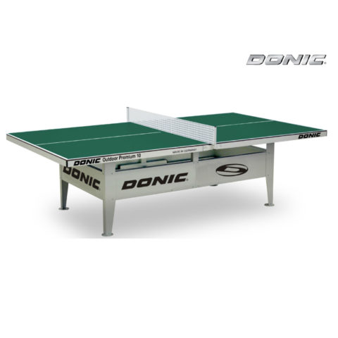 Теннисный стол антивандальный OUTDOOR Premium 10 зеленый-арт-230236-G-DONIC