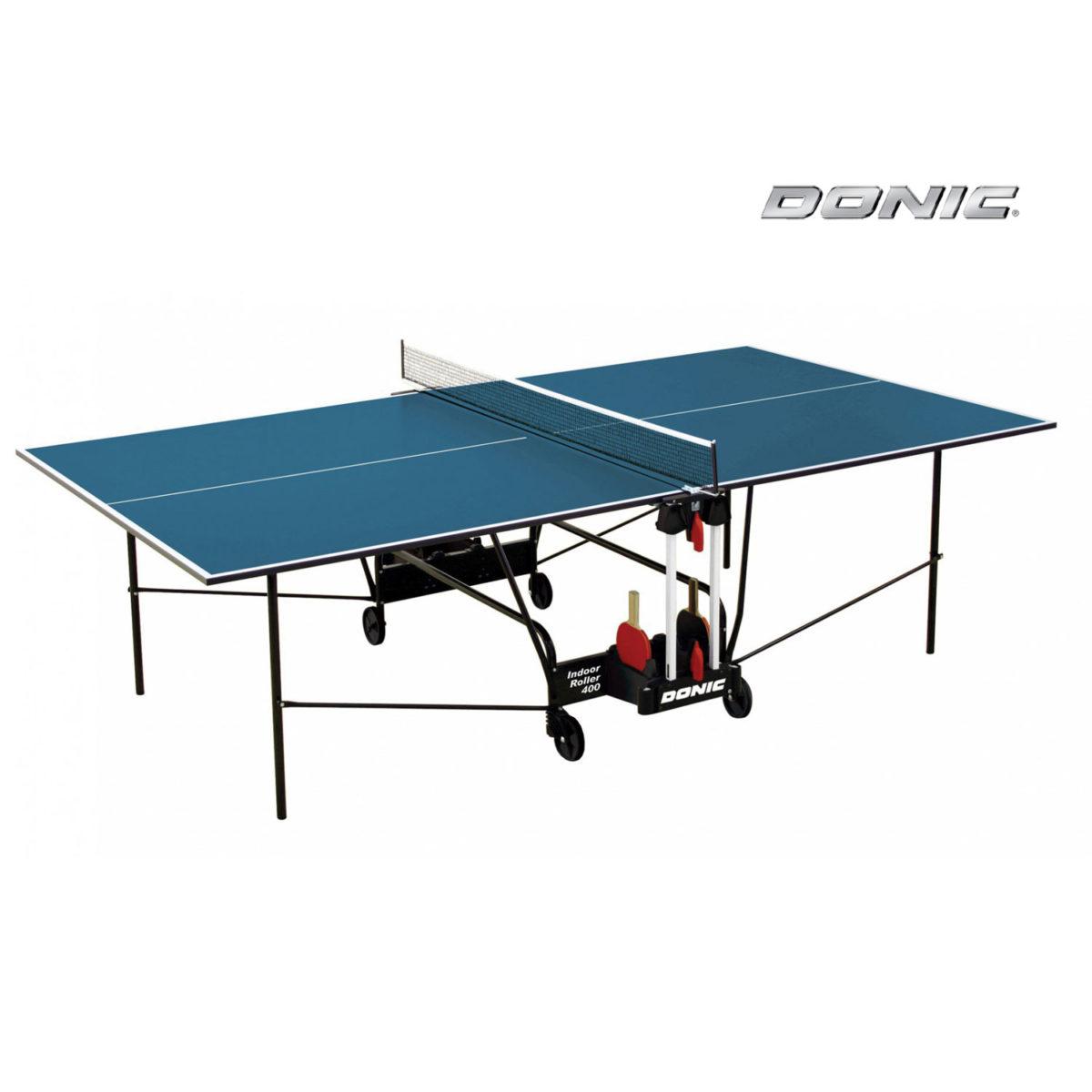 Теннисный стол DONIC INDOOR ROLLER 400 BLUE-арт-230284-B-DONIC