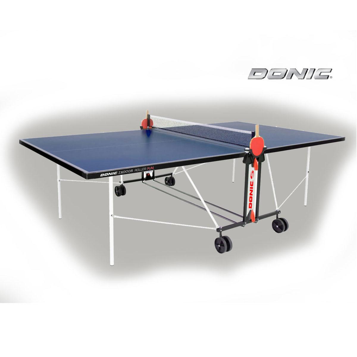Теннисный стол DONIC INDOOR ROLLER FUN BLUE 19мм-арт-230235-B-DONIC