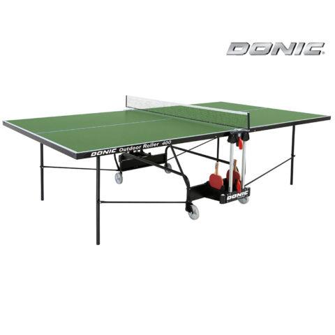 Теннисный стол DONIC OUTDOOR ROLLER 400 GREEN-арт-230294-G-