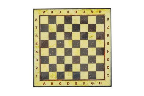 Шахматная коробка с доской малая (дуб) 25*25