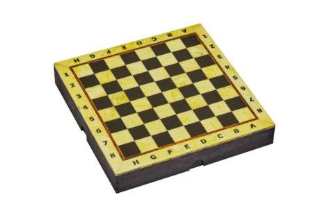 Шахматная коробка с доской малая 25*25 -yantar17
