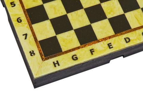 Шахматная коробка с доской малая 25*25 - Амберрегион