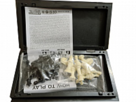 Шахматы магнитные 25 см - Уцененный -mchess25b