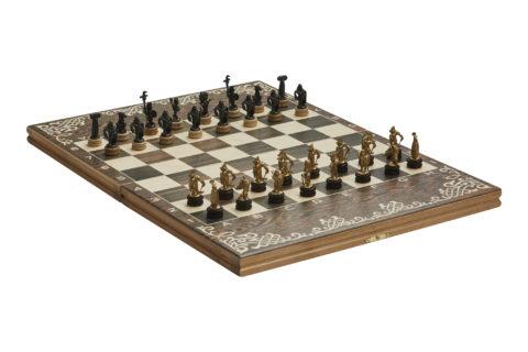"""Шахматы малые """"Галлы-Римляне"""" чернение"""