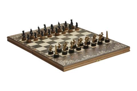 """Шахматы малые """"Египетская сила"""" чернение"""