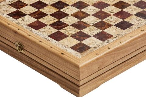 Шахматы средние каменные 34х34 см (2
