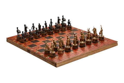 """Шахматы """"Битва при Ватерлоо"""" цинковый сплав/черненые"""