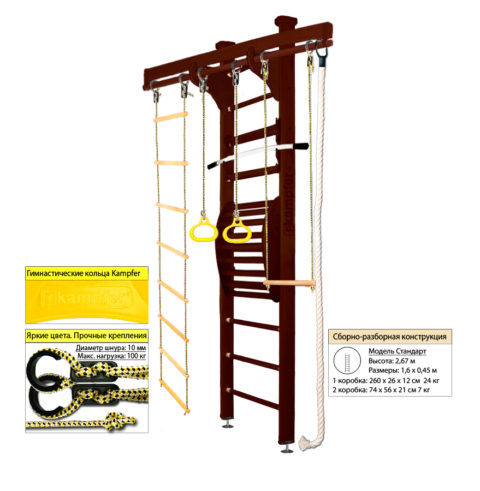 Шведская стенка Kampfer Wooden Ladder Maxi Ceiling (№5