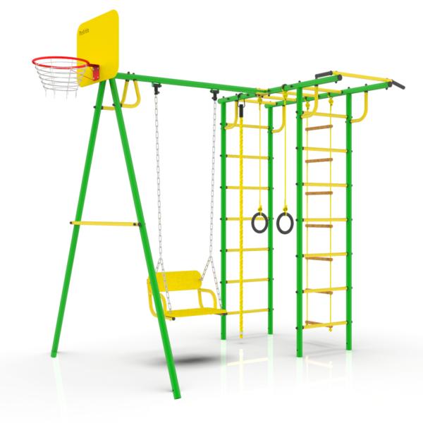 Уличный Спортивный комплекс УДСК-6.4 Rokids Тарзан Мини 4 (Зеленый-желтый)
