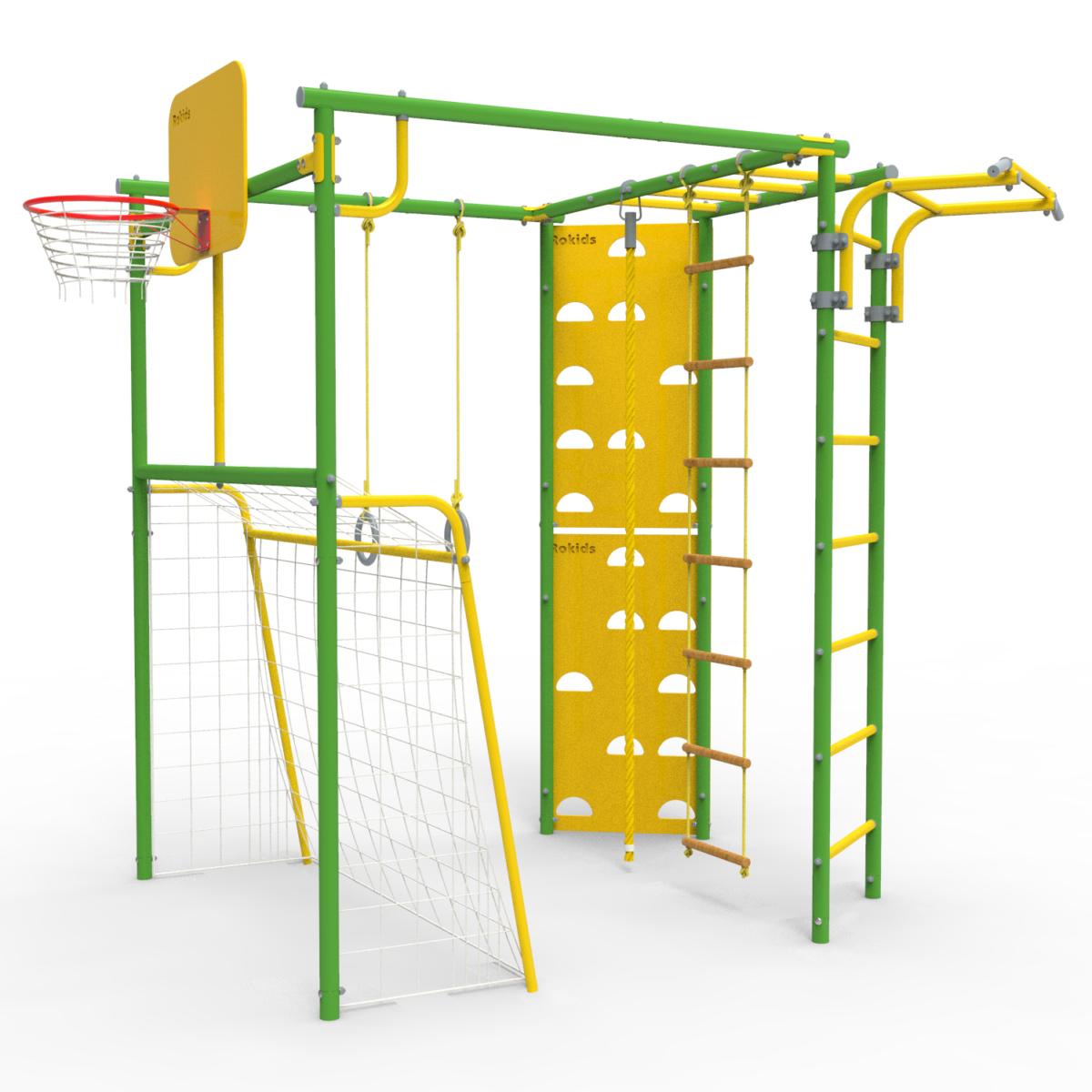 Уличный Спортивный комплекс УДСК-7 Rokids Атлет-Т (Зеленый-желтый)