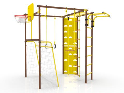 Уличный Спортивный комплекс УДСК-7 Rokids Атлет-Т (Шоколад-желтый)