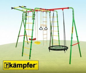 Уличный детский спортивный комплекс Kampfer Wunder (Гнездо 100 см зеленое