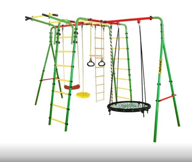 личный-детский-спортивный-комплекс-Kampfer-Wunder-Гнездо-100-см-зеленое