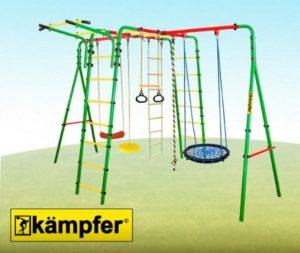 Уличный-детский-спортивный-комплекс-Kampfer-Wunder-качели-гнездо-60-см-малое-зеленого-цвета