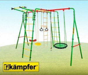 Уличный-детский-спортивный-комплекс-Kampfer-Wunder-качели-гнездо-60-см-синего-цвета