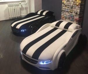 Romack Junior кровать машина черная белая