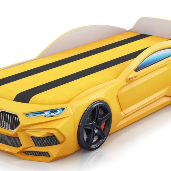 Детская кровать машина Romack Romeo-M желтая
