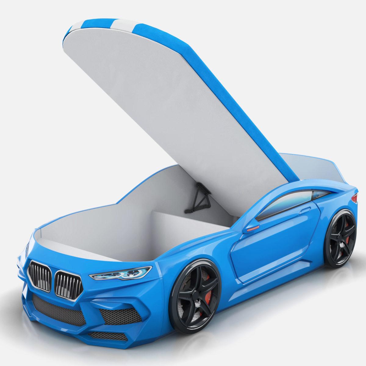 Детская-кровать-машина-Romack-Romeo-M-синяя