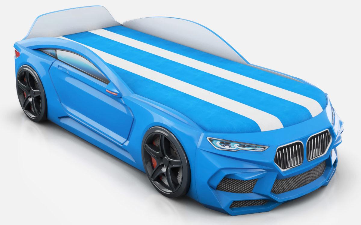 Детская кровать машина Romack Romeo-M синяя